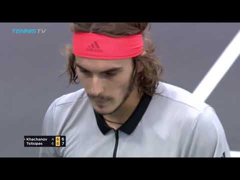 What a point from Tsitsipas to earn match point