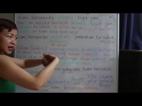 LEARN INDONESIAN LANGUAGE #52 DURING ACROSS IN SINCE VIA - SELAMA MELINTASI MELEWATI DALAM SEJAK VIA