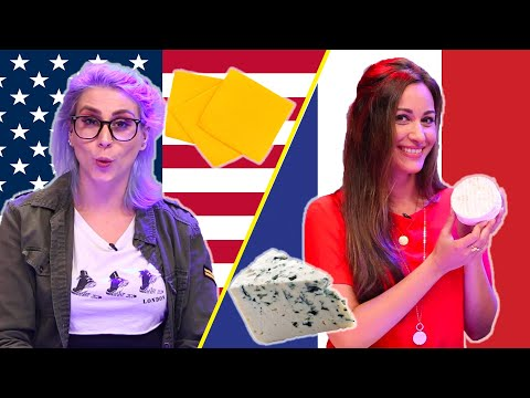 American and French People Swap Cheeses