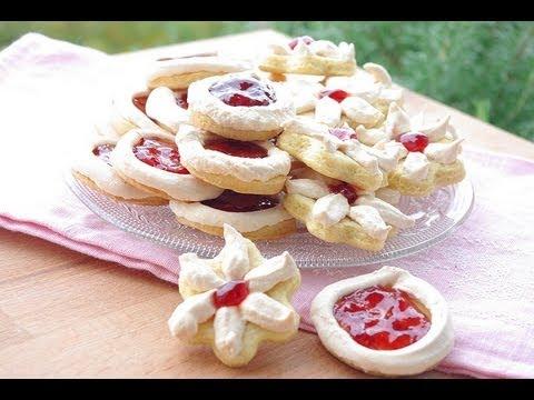 biscuits-sablés-à-la-meringue-et-à-la-confiture-/-meringue-and-jam-cookies-recipe