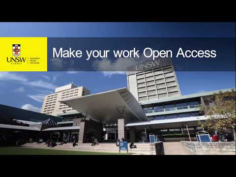 Make your work Open Access at UNSW