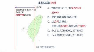 高中地理  臺灣橫麥卡托二度分帶座標系統