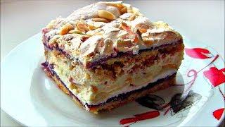 """Торт  """" Пани Валевская """"  🍰  Вкусный песочный торт с безе и заварным кремом"""