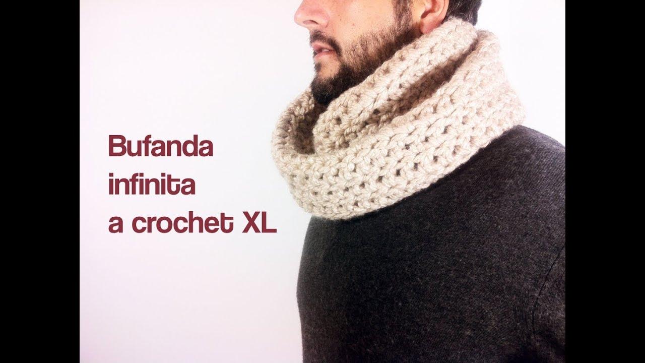 Cómo tejer una bufanda infinita a ganchillo / crochet - YouTube