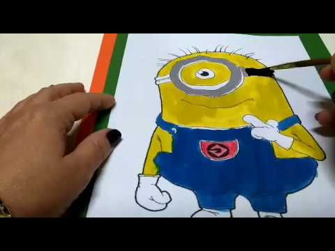 Minyon Boyama Minyon Coloring Youtube