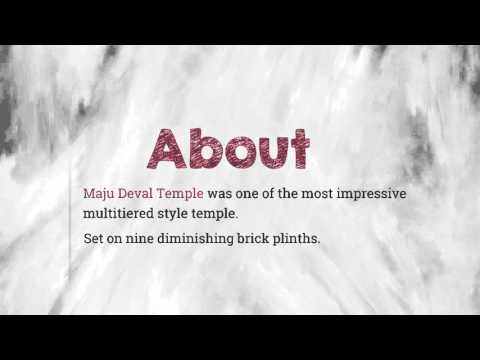 Infographic on Maju Deval Temple, Nepal  Motion Graphic