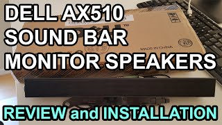 dell AX510 Sound Bar Monitor speakers - Unboxing, review and installation to monitor