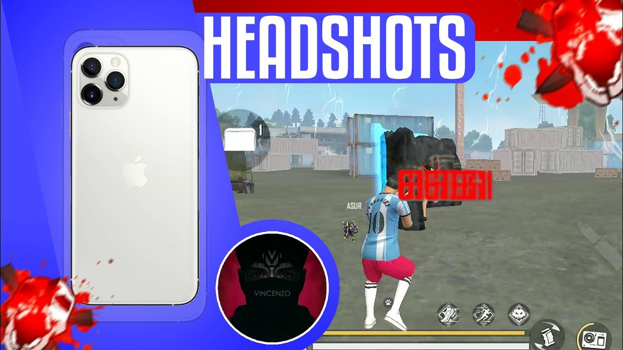 Free Fire Perfect Headshots 🎯 Try to learn from The Legend Vincenzo ❤ - Nonstop Gaming