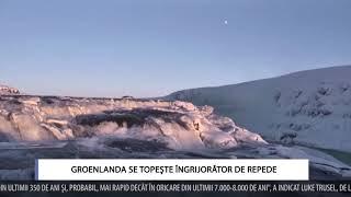 GROENLANDA SE TOPEŞTE ÎNGRIJORĂTOR DE REPEDE