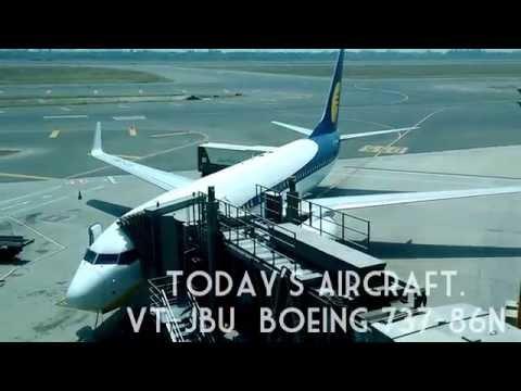 JET AIRWAYS 9W-823  DELHI TO BANGALORE