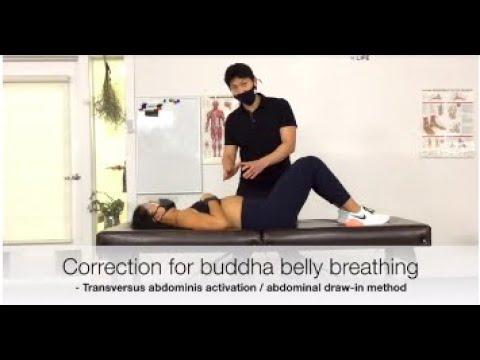 How to overcome buddha belly breathing to rebalance breathing mechanics