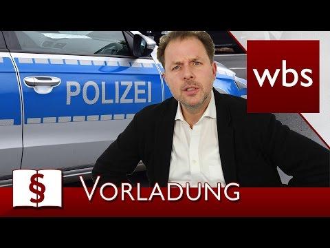 Jura Basics: Vorladung von der Polizei: Was tun? | Rechtsanwalt Christian Solmecke