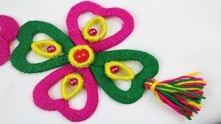 How to Make Beautiful Woolen Door Hanging Toran || Woolen Craft Idea - New woolen design - DIY arts