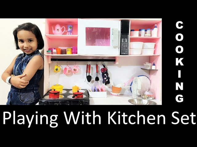 Playing with Kitchen Set in Hindi PART 2| Cooking with Kitchen Set Toy | #LearnWithPari