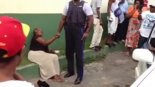 Old lady arrested for selling Ackee on Jamaica