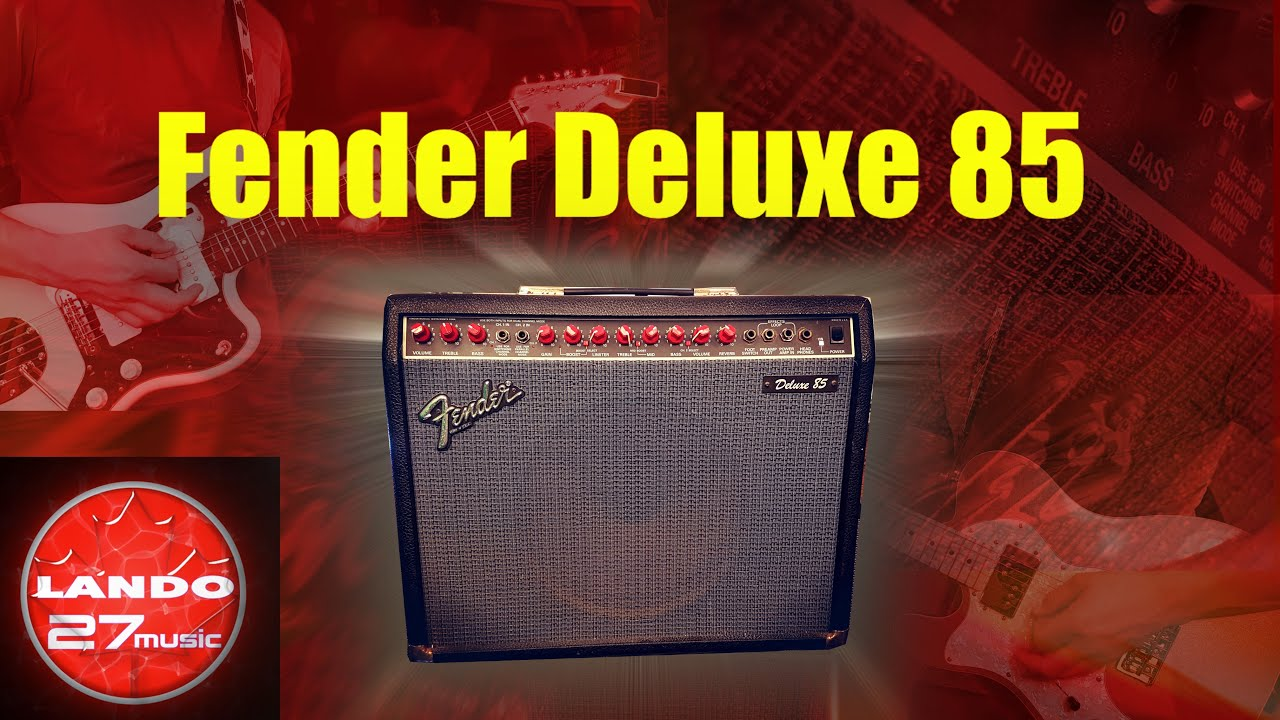 Fender Deluxe 85 - Red retro amp demo/review on
