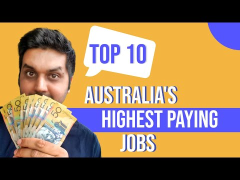 Australia's Top 10 Highest Paying Jobs + 5 Bonus Jobs Earning More Than $100,000