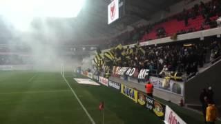 Kalmar-AIK 2012-04-09 - AIK-klacken innan avspark