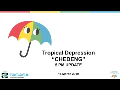 """Press Briefing:Tropical Depression """"#CHEDENGPH"""" Monday, 5 PM March 18 2019"""