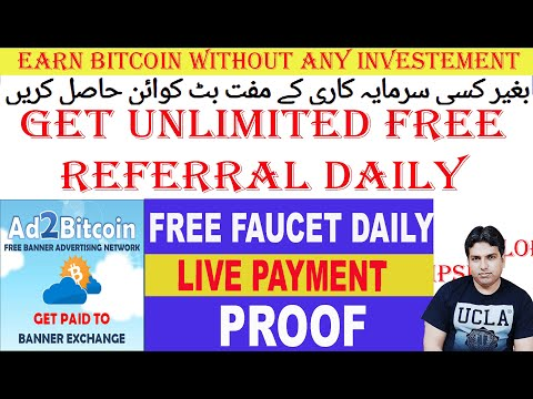 Ad2bitcoin Review   Get unlimited direct Referral Free