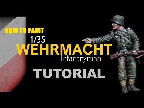 How To Paint 1/35 German World War Two Infantry  TUTORIAL
