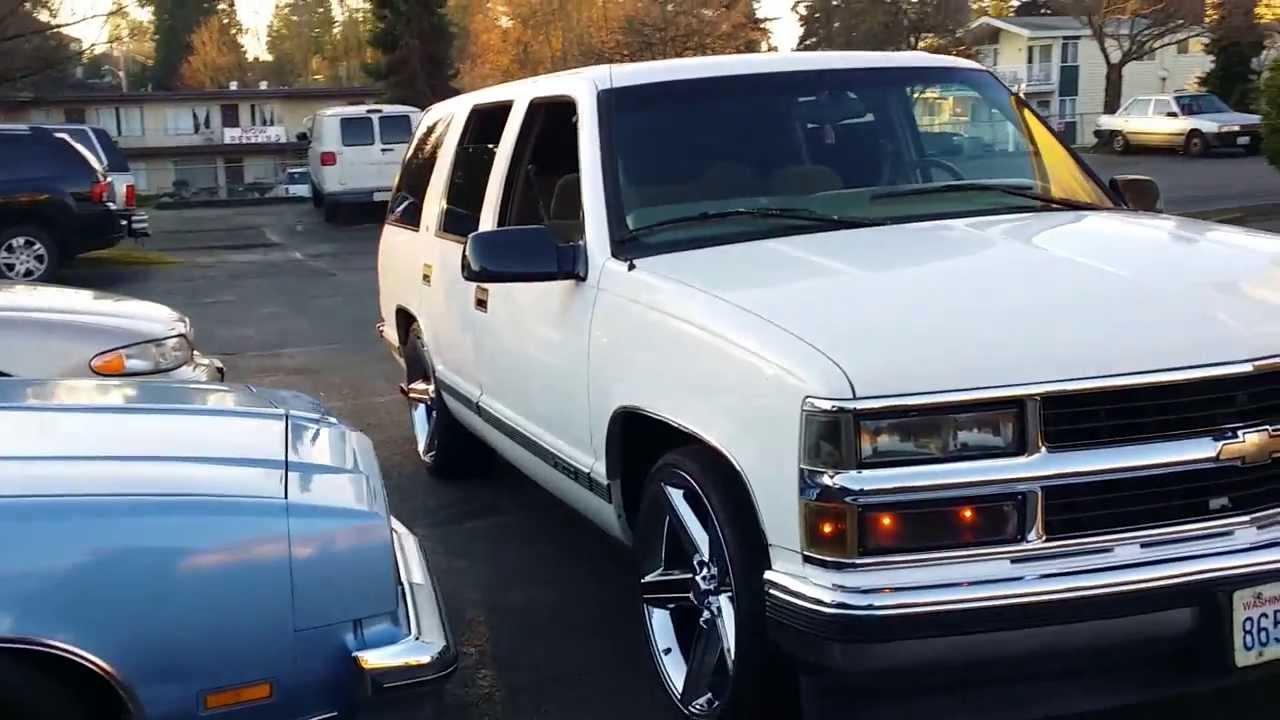 Tahoe 97 chevy tahoe : 97 tahoe 2WD police interceptor - YouTube