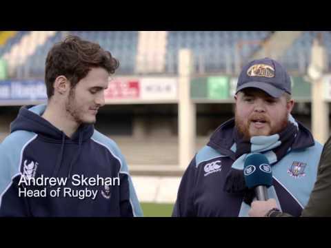 Jamie Heaslip meets St.Michael's- Bank of Ireland Leinster Schools Senior Cup Semi-Finals 2016
