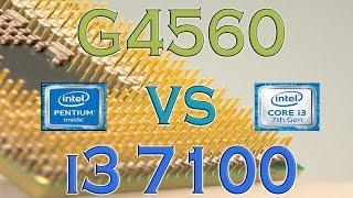 g4560 vs i3 7100 benchmarks gaming tests review and comparison kaby lake vs kaby lake