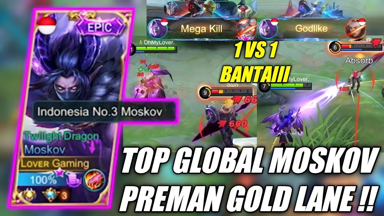 TUTORIAL MOSKOV GOLD LANE SEASON 21, PAKAI BUILD TERSAKIT 1 VS 1 AUTO WIN !! - MOBILE LEGENDS