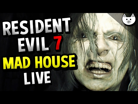 Resident Evil 7 MAD HOUSE MODE RAGE LIVE - (Resident Evil Madhouse Mode Difficulty #1)