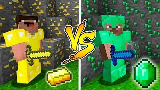 MINECRAFT - NOOB VS PRO: GOLD or EMERALD BATTLE in Minecraft
