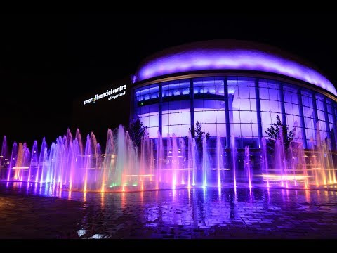 Smart Financial Centre, Sugar Land, Texas, USA - Crystal Fountains