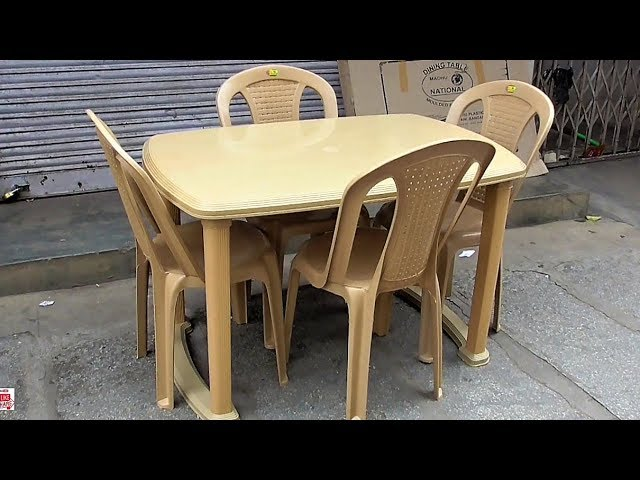 Fiber Plastic Dining Table 4 Seater In Popular Furniture Unboxing Youtube
