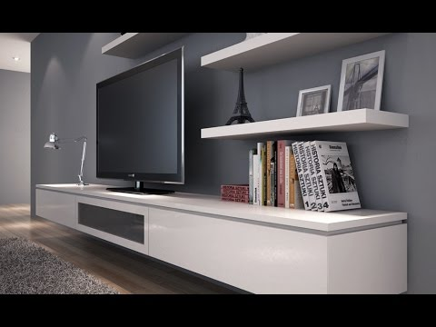 floating tv stand ikea hack white gloss