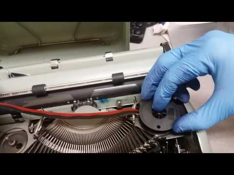 How to change a typewriter ink ribbon - HERMES 3000