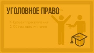 Уголовное право. Видеоурок по обществознанию 10 класс