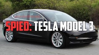 The New Tesla Model 3 Has Been Spied In The Wild!! | Autoblog Minute