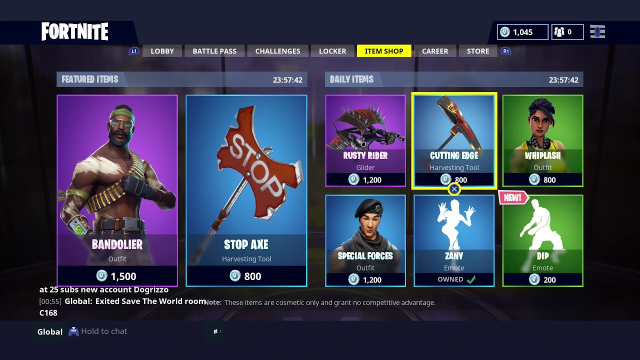 Fortnite Daily Items Shop Store May 28 2018 W New Dance Dip