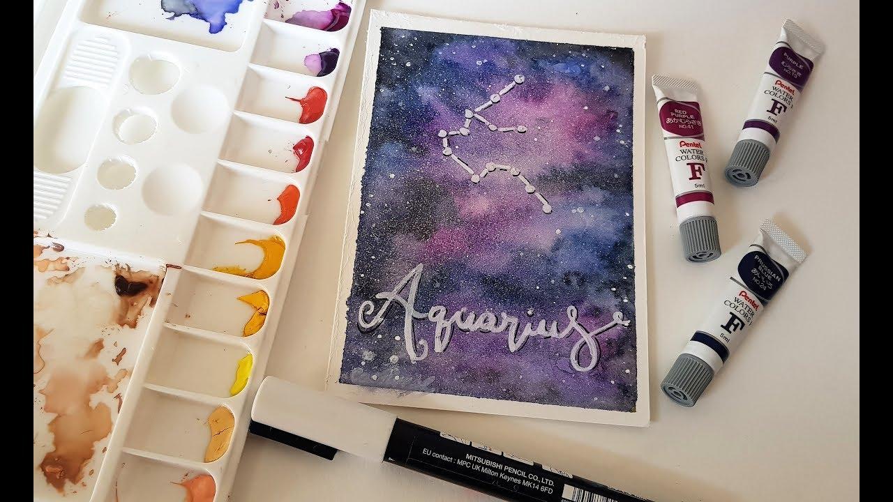 Como Pintar Galaxia De Aquarela Youtube