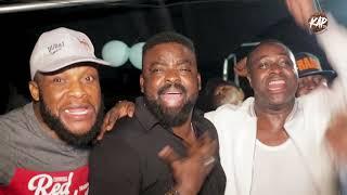 Kunle Afolayan Unwind with Femi Adebayo, Muyiwa Authentic, Saidi Balogun in Ibadan