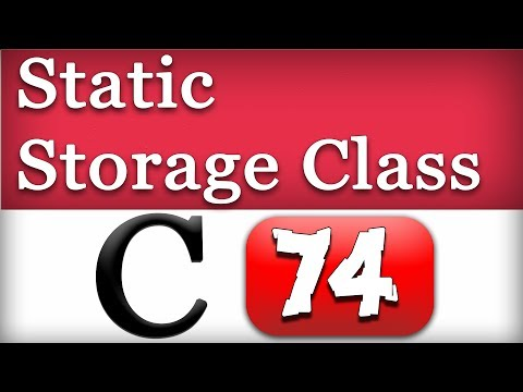 Static Variables, Storage Class in C Programming Language Video Tutorial