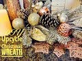 DIY Christmas Wreath Upcycle | Glam Christmas Wreath