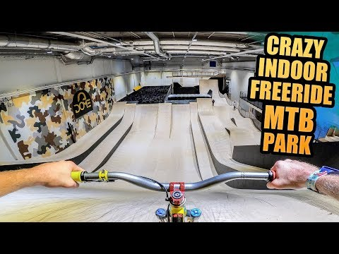 CRAZY INDOOR FREERIDE MOUNTAIN BIKE PARK IN SWEDEN!