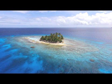 Flying over Chuuk Lagoon with Bebop drone2
