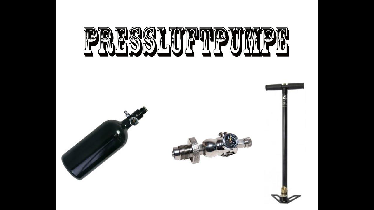 Fabulous Paintball HP Flasche selber füllen....Pressluftpumpe! - YouTube CL03