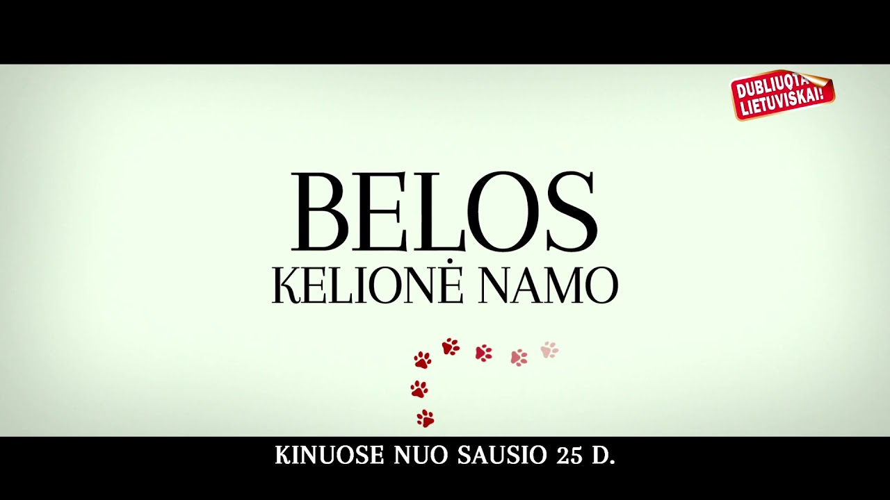 BELOS KELIONĖ NAMO video anonsas.