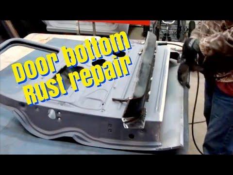 Door bottom rust repair