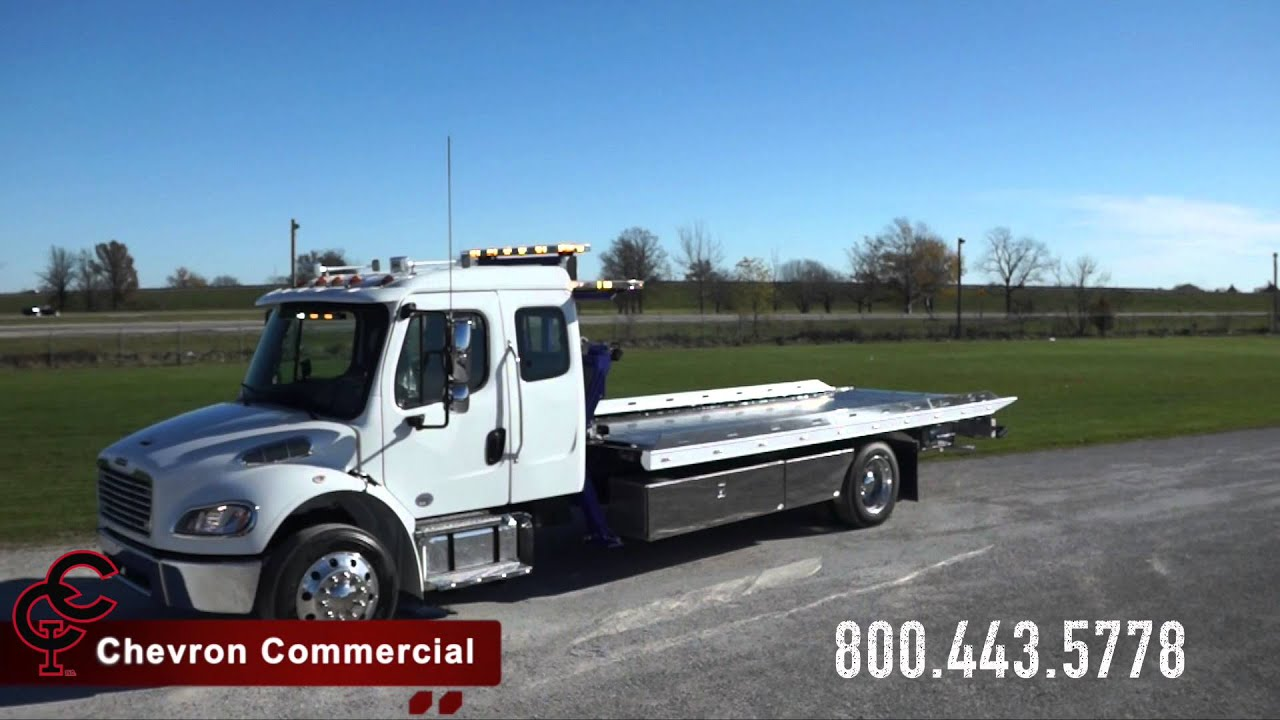 Freightliner M2 Ext Cab w/ Chevron 21' Stl LCG Carrier & SP8000 Side Puller