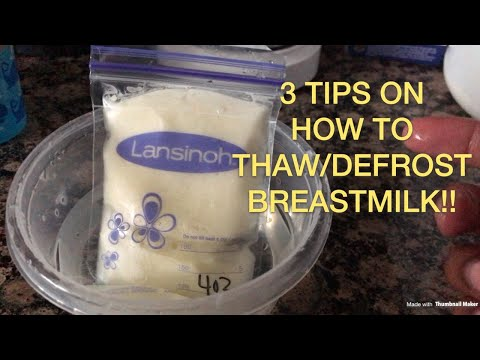 How to thaw/defrost BreastMilk| 3 Different Methods | Breastfeeding 101 | Ep. 3