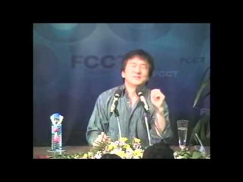 Jackie Chan at the Foreign Correspondents' Club of Thailand, with an introduction by Uwe Morawetz